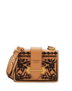 4feee25970b7 Embroidered Cahier Trunk Bag, White/Black (Bianco Nero) by Prada at Neiman  Marcus.