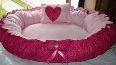 Pink Cheetah print Dog bed - very cute! Cute Dog Beds, Puppy Beds, Pink Cheetah, Cheetah Print, Cool Pets, Cute Puppies, Baby Car Seats, Bean Bag Chair, Dog Cat