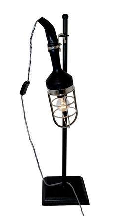 Lampe vernickelt, mit Ständer