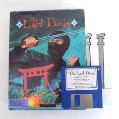 THE LAST NINJA Vintage Computer Video Game APPLE IIGS 2 II GS Floppy 1988 RARE
