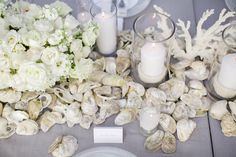 oyster shell centerpiece | Landon Jacob