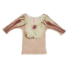 Rabbit Print T Shirt - Muchacha