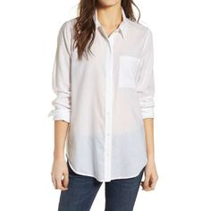 online shopping for Treasure & Bond Drapey Classic Shirt from top store. See new offer for Treasure & Bond Drapey Classic Shirt White Button Down Shirt, White Shirts, Front Button, White Blouses, Button Downs, Business Casual Outfits, Business Clothes, Business Attire, Fashion Essentials