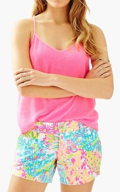 1514b578ebcd0a Callahan Short - Multi Lovers Coral Coral Shorts, Kinds Of Clothes, Lilly  Pulitzer Prints