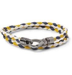 Tod'sWoven-Leather Wrap Bracelet