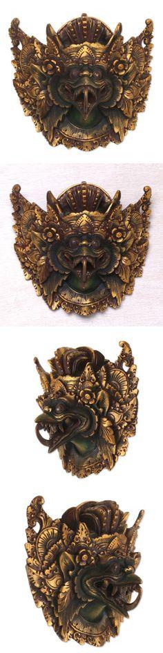 Masks 38235: Garuda Wall Mask Hindu Kind Of Birds Acacia Wood Gold Painted Novica Bali -> BUY IT NOW ONLY: $137.99 on eBay!