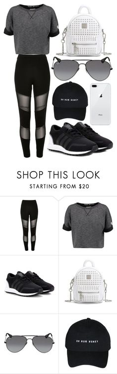 """697."" by plaraa on Polyvore featuring River Island, Champion, adidas Originals and Ray-Ban #fitnessoutfit"