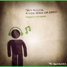 Música é vida, é alegria, é sentimento!  Coloque mais em sua vida!!! A nossa quarta-feira estará bem musical!!!    #BomDia a vocês! Nos diga, qual é a canção que está fazendo a sua cabeça no momento?