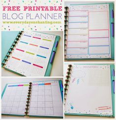 2 Girls, 1 Year, 730 Moments to Share: Organized Freak: Using a Blog Planner! [Free Printables]