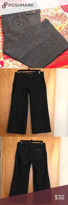 Banana Republic Wide Leg Capris - 2 Banana Republic Wide Leg Capris - 2 - Excellent Condition 99% Cotton 1% Spandex - These are a thicker material & they don't have much stretch or give to them. Banana Republic Jeans