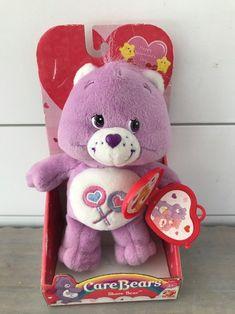 Care Bears Share Bear Happy Valentine's Day Plush 2005 #CareBears