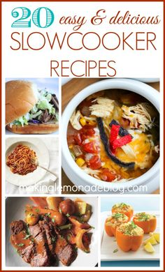 20 Slow cooker & crock pot recipes-- repin and share this roundup of easy slowcooker recipes, full of soups, pastas, meat, and even vegan recipes! PERFECT comfort food!