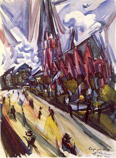 Ludwig Meidner Max Beckmann, Cool Paintings, Cool Artwork, Karl Hofer, Ludwig Meidner, Karl Schmidt Rottluff, Paula Modersohn Becker, Gothic Elements, George Grosz
