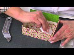 Créer une boîte en carton - L'Atelier Edisaxe - YouTube