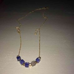 Gold jem necklace ($22) is on sale on Mercari, check it out! https://item.mercari.com/gl/m161083688/