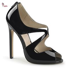 Pleaser SEXY-12 Blk Pat Size UK 6 EU 39 - Chaussures pleaser (*Partner-Link)