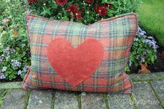 Totally Tartan - Sale Warm Terracotta and burnt orange Rectangle Heart Cushion, £34.00 (http://www.totallytartan.net/sale-warm-terracotta-and-burnt-orange-rectangle-heart-cushion/)