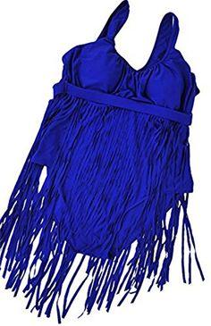 Dark Blue Plus Size One Piece Bathing Suit