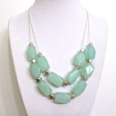 Chunky Seafoam Necklace  Double Strand Ice by ASimpleKindOfFancy
