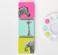 Uma ideia fácil de fazer para decorar o quarto das crianças.