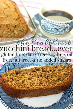 Healthy Zucchini Bread: Gluten Free/Dairy Free/No Added Sugar/Soy Free/Oil Free/Nut Free – Simply Taralynn