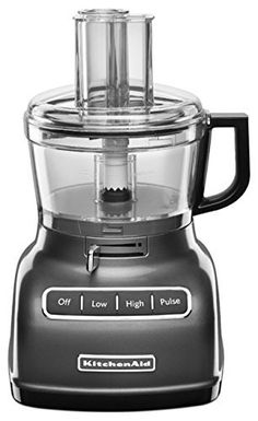 KitchenAid RKFP0722QG 7Cup CERTIFIED REFURBISHED Food Processor with Exact Slice System  Liquid Graphite >>> Amazon most trusted e-retailer #KitchenAidAppliances