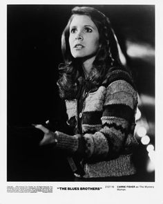 Carrie Fisher - The Blues Brothers Debbie Reynolds Carrie Fisher, Carrie Frances Fisher, Blues Brothers 1980, Princes Leia, Leia Star Wars, Tv Icon, Han And Leia, The Force Is Strong, Being Good