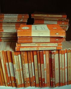Vintage Penguin Books- they probably have the best old book smell ever