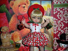 Fits-10-Ann-Estelle-Tonner-Doll-Anns-Red-Green-Snowman-Dress-D1161