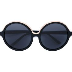 Nº21 round frame sunglasses (€270) ❤ liked on Polyvore featuring accessories, eyewear, sunglasses, black, round frame glasses, acetate sunglasses, round acetate sunglasses, acetate glasses and round sunglasses