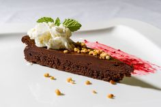Chocolate cake with a twist of lime and sour cream.