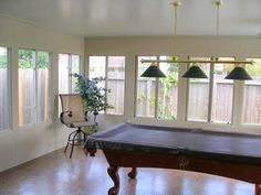Gameroom Sunroom THIS WOULD BE PERFECT TO CLOSE IN OUR PATIO THAT WE BARELY USE!!! HINT HINT MOM!!!(;