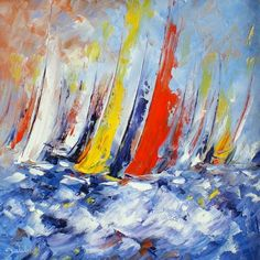 Magnificent choices to give some thought to Sailboat Art, Sailboat Painting, Sailboats, Paintings I Love, Watercolor Paintings, Abstract Landscape, Abstract Art, Nautical Artwork, Art En Ligne