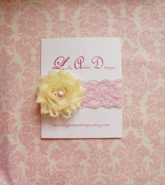 The Pink lemonade headband/ Newborn headband/ by LilyAidenDesigns, $7.50