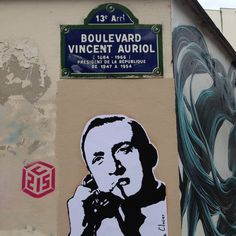 TOUCHEZ PAS AU GRISBI (Jacques Becker, 1954) by artist LE CLOSIER in Paris, France. streetartcinema.com  #streetartcinema  #streetart #stencil #mural #urbanart #cinema #culture #education #Grisbi #French #Film