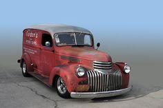 Chevy panel van caught cruisin by Ken Fisher