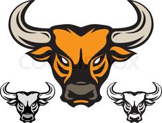 Taurus Bull Head Tattoos Design