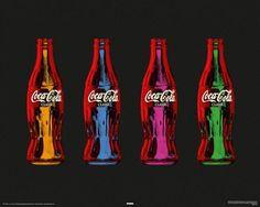 Posters Coca-Cola Coca Cola Coke bottle bottles popart