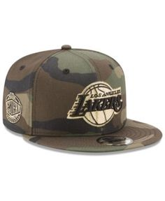 NEW ERA LOS ANGELES LAKERS METALLIC WOODLAND 9FIFTY SNAPBACK CAP.  newera    Lakers Cap 4e02f311187