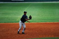Throwing across the diamond from 3rd base at the Perfect Game Showcase in East Cobb, GA; circa 2012.