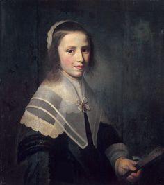 1645 Hendrick Cornelisz. van Vliet - Girl Holding a Fan