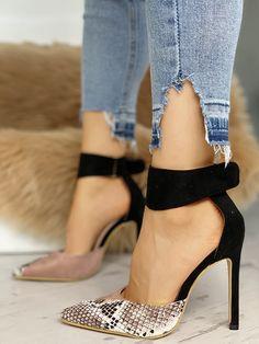 dce88e4af25 Shop Pumps   Heels Sapatos Stiletto de Estampa de Pele de Cobra