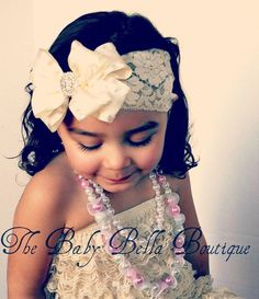 Baby Girl fancy Cream Ivory double ruffle by TheBabyBellaBoutique