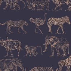 Find Boutique Jungle Animals Navy Wallpaper at Homebase. Visit your local store for the widest range of paint & decorating products. Cloakroom Wallpaper, Wallpaper Toilet, Navy Wallpaper, Geometric Wallpaper, Navy Living Room Wallpaper, Bedroom Feature Wallpaper, Unusual Wallpaper, Cottage Wallpaper, Hallway Wallpaper