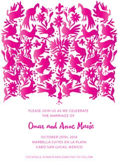 vote for my wedding invitation design - Otomi by Paper Monkey Press #otomi #minted Now available at Minted! http://www.minted.com/product/wedding-invitations/MIN-DRZ-INV/otomi
