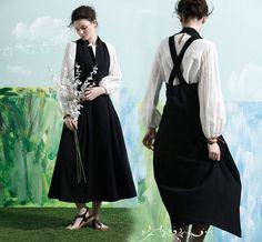 maxi linen dress in black linen halter dress long by camelliatune