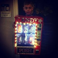 "9 Likes, 2 Comments - Jeannine Emmett (@5hens) on Instagram: ""jake wanted to be a vending machine for Halloween. oh, and with lights, too?! sure kid, that'll be…"""