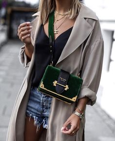 "38 Likes, 2 Comments - Spotted Fashion (@spottedfashioncom) on Instagram: ""Velvet Cahier! ❤️ #repost from @aylin_koenig #prada #pradacahier #pradabag #pradamilano #pradalover…"""