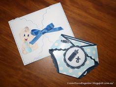 Tarjeta Baby Shower Pañal by Crear para Regalar con Fieltro y Papel, via Flickr