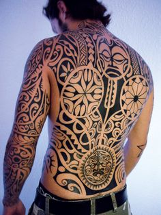 Tribal Tattoo Design by Christopher Souloumiac of Positif Tattoo in Aubagne, France